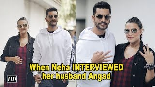 When Neha Dhupia INTERVIEWED her husband Angad Bedi - IANSLIVE