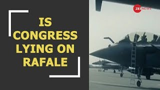 Is Congress lying on Rafale and hiding its defence scams - ZEENEWS