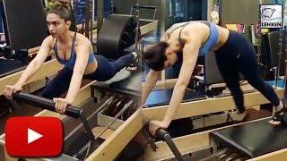 (Video) Deepika Padukone Works Out For PADMAVATI!! | LehrenTV