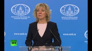 LIVE: Russian Foreign Ministry news briefing - RUSSIATODAY