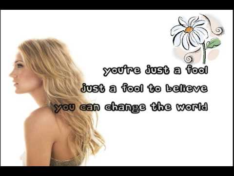 Carrie Underwood Change lyrics on screen 