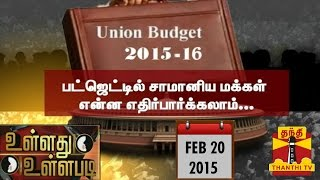 "Ullathu Ullapadi 20-02-2015  ""Will Common Man's Expectations be Reflected in Budget 2015 – 2016 "" – Thanthi Tv Show"