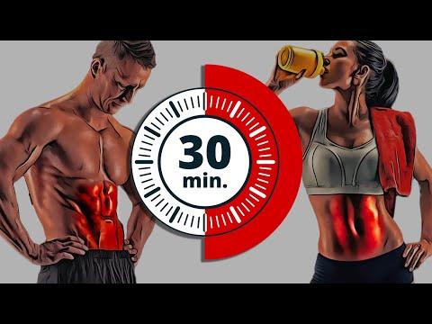 Como hacer abdominales en casa - 30 Minutos para abdominales perfectos