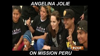 Angelina Jolie meets Refugee Break-dancers on Peru Trip - INDIATV