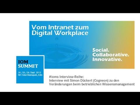 #ioms13: Interview mit Simon Dueckert (Cogneon) zu den Entwicklungen im Wissensmanagement