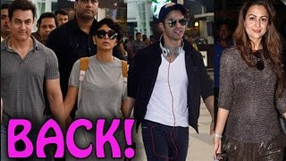Bollywood Celebrities return from Arpita Khan's wedding! | EXCLUSIVE - ZOOMDEKHO
