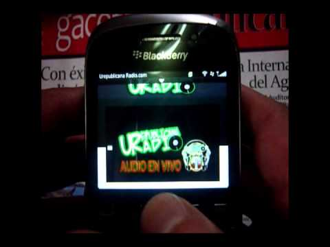 AUDIO EN VIVO DE UREPUBLICANARADIO DESDE UN BLACK BERRY
