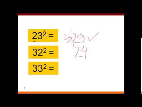 Tanya Jawab 013 Cara Hitung Cepat Kuadrat 2 Digit 32