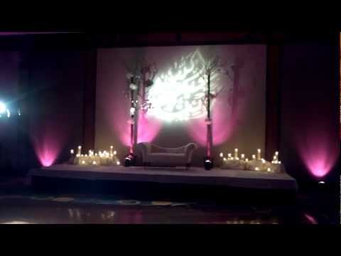 ZA Wedding Reception Arabic Writing Designs New Trend 2012 Lighting by