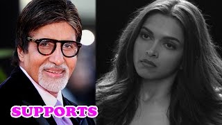 Amitabh Bachchan supports Deepika Padukone on her 'Woman Empowerment video'