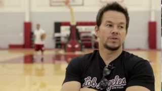 Mark Wahlberg Plays 2-on-2 With Jimmy Butler