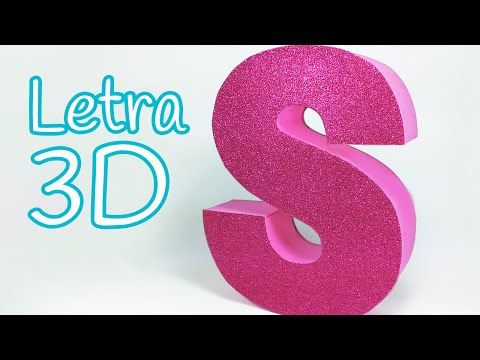 Manualidades: LETRAS en 3D para decorar tu cuarto - Innova Manualidades