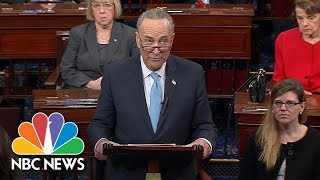 Chuck Schumer Blames Donald Trump: 'Great Deal-Making President Sat On The Sidelines' | NBC News - NBCNEWS