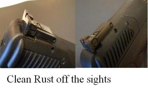 FN 5.7x28MM - remove rust on rear sights - Cleaning tip