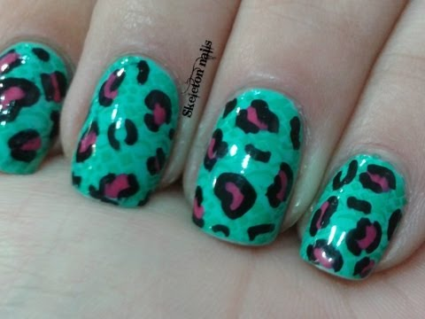 Manicura doble estampado animal/ Double Animal print manicure