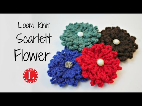 Loom Knit Flower - The Scarlett