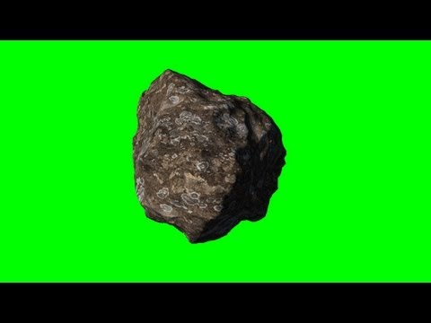 asteroid meteor in rotation - green screen effects