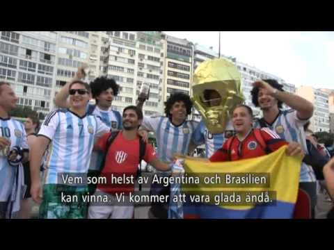 Tilde de Paula Eby hänger med Argentinska fans - Nyhetsmorgon (TV4)