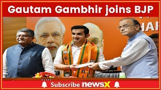 Gautam Gambhir, ex Cricketer Begins Political Innings, Joins BJP; Lok Sabha Elections 2019 - NEWSXLIVE