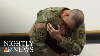 Soldier Surprises Son In Emotional Video | NBC Nightly News - NBCNEWS