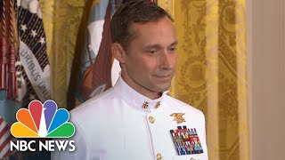 President Donald Trump Presents Medal Of Honor To Navy SEAL For 2002 Afghanistan Rescue | NBC News - NBCNEWS