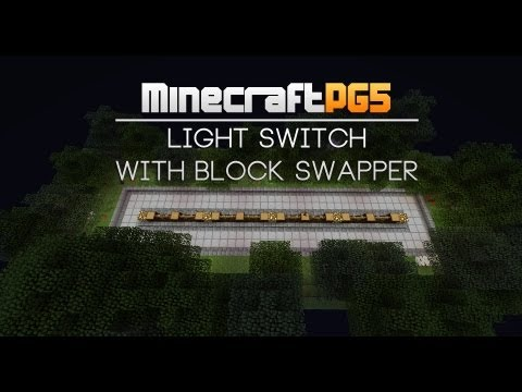 Light switch with block swapper [small] - Tutorial Minecraft