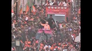 Master Stroke Full: Varanasi turns Into sea of saffrons during Modi's roadshow - ABPNEWSTV