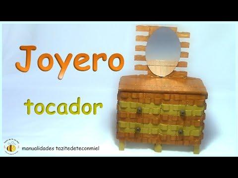 Manualidades: joyero tocador hecho con pinzas de madera / crafts