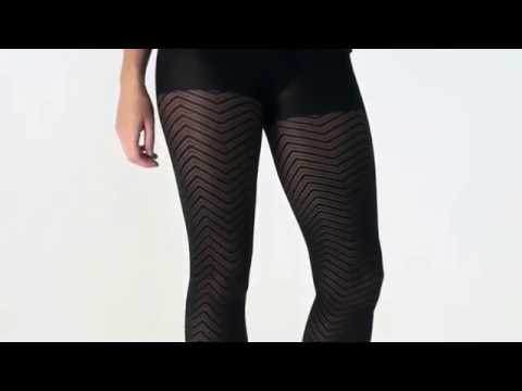 UK Tights - Tiffany Quinn Chevron Opaque Tights