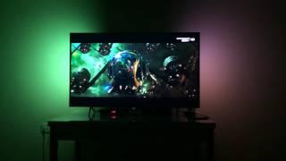 Philips 55pus6401 4K ambilight TV test video