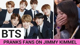 BTS PRANKS Fans on Jimmy Kimmel Live! - HOLLYWIRETV