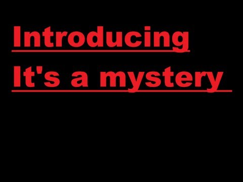 Introducing It's a mystery (MYST)