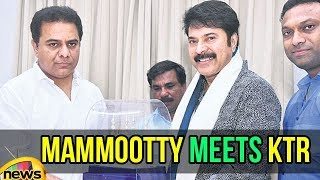 Mammootty meets KTR | Mommootty at CM Camp Office | Startups Entrepreneur Awards | Mango News - MANGONEWS