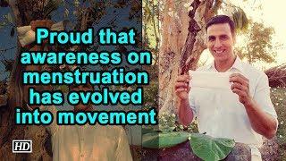 Proud that awareness on menstruation has evolved into movement: Akshay Kumar - IANSLIVE