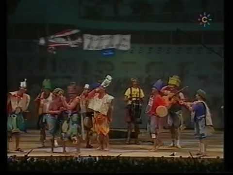 Sesión de Final, la agrupación Los gladiadores de la caleta actúa hoy en la modalidad de Chirigotas.