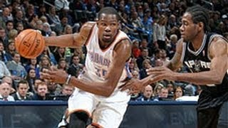 Kevin Durant Drops 24 & 13 On The Spurs