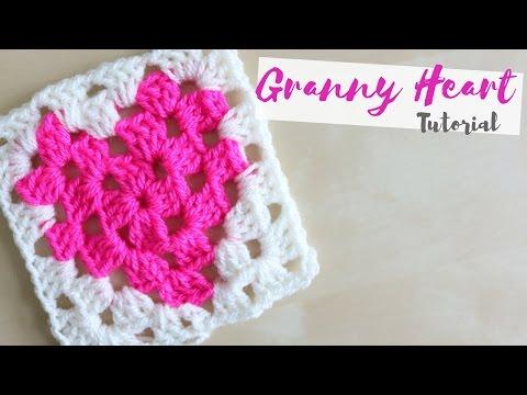 CROCHET: How to crochet a Granny Heart square | Bella Coco