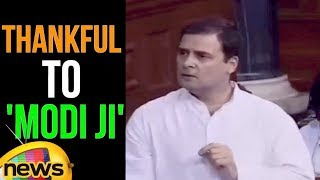 Rahul Gandhi Says Im Thankful to PM Modi for teaching me the meaning of Congress | Lok Sabha Live - MANGONEWS