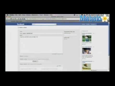 How to create a Facebook note