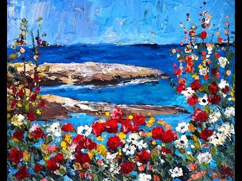 palette knife painting instruction
