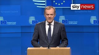 Tusk sets condition for EU approving Brexit extension - SKYNEWS