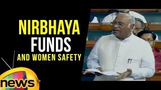 Mallikarjun Kharge Comments On Nirbhaya Funds And Women Safety | Lok Sabha | Mango News - MANGONEWS