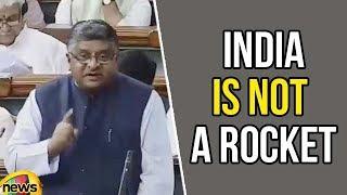 Ravishankar Prasad says India is not a rocket science to allow Tech Firms | Mango News - MANGONEWS