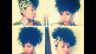 Natural Hair Easy Scarf Side Or Front Poof Hairstyle Youtube
