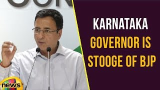 Karnataka Governor is Stooge of BJP,  shamed the office, says Randeep Surjewala | Mango News - MANGONEWS