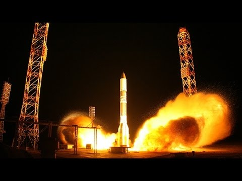 Video: Despegue del cohete ruso Protón-M con un satélite a bordo