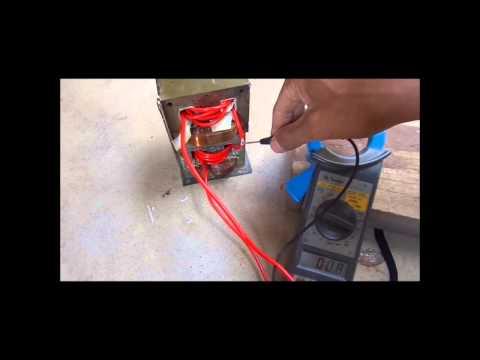 Maquina de solda feita com trafos de microondas passo a passo ensaio 1