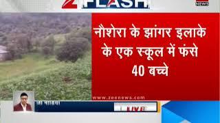 40 children stuck in school due to Pak's cross-LoC firing in Naushera | पाक फायरिंग में फसे 40 बच्चे - ZEENEWS