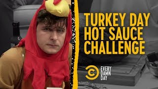 Eating Turkey with Carolina Reaper Sauce, The World's Hottest Sauce - COMEDYCENTRAL
