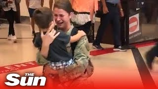Military mother makes emotional reunion with her child - THESUNNEWSPAPER